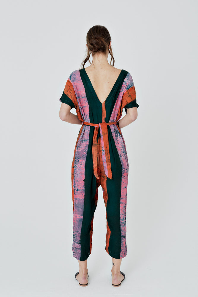 Easy Jumpsuit in Carmine