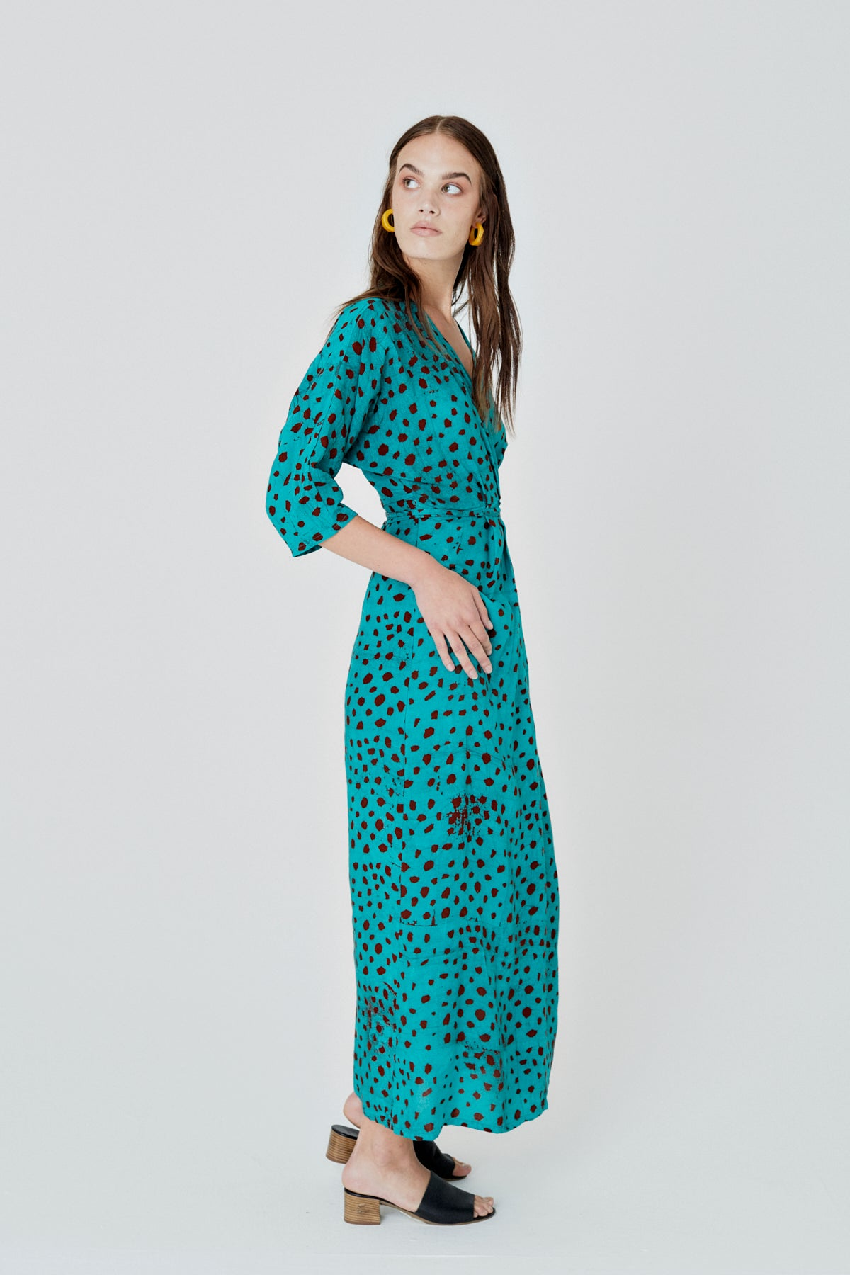 Letsa Wrap Dress in Baby Giraffe