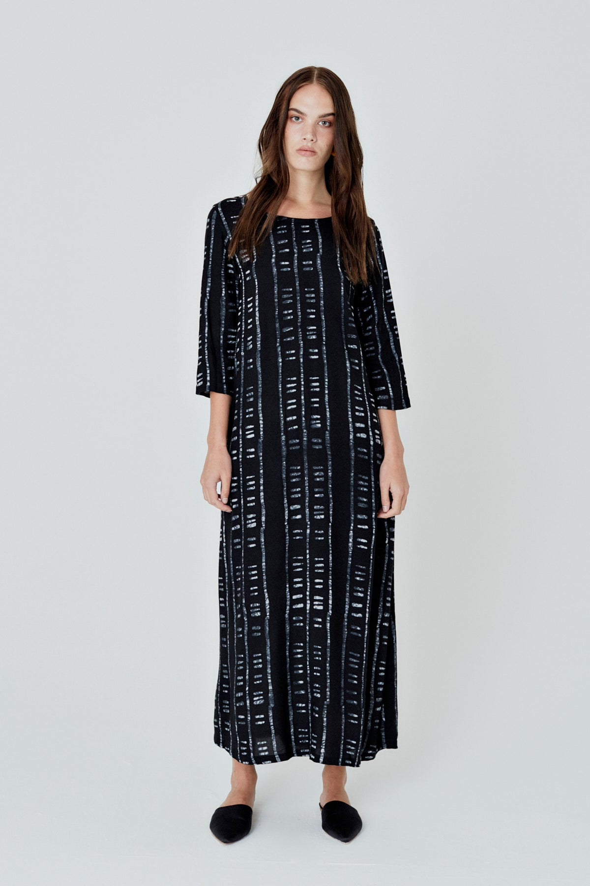 Nima Dress in Binary Black