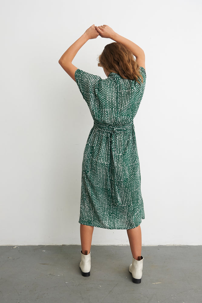 Sampa Dress in Bullfrog by Moonlight