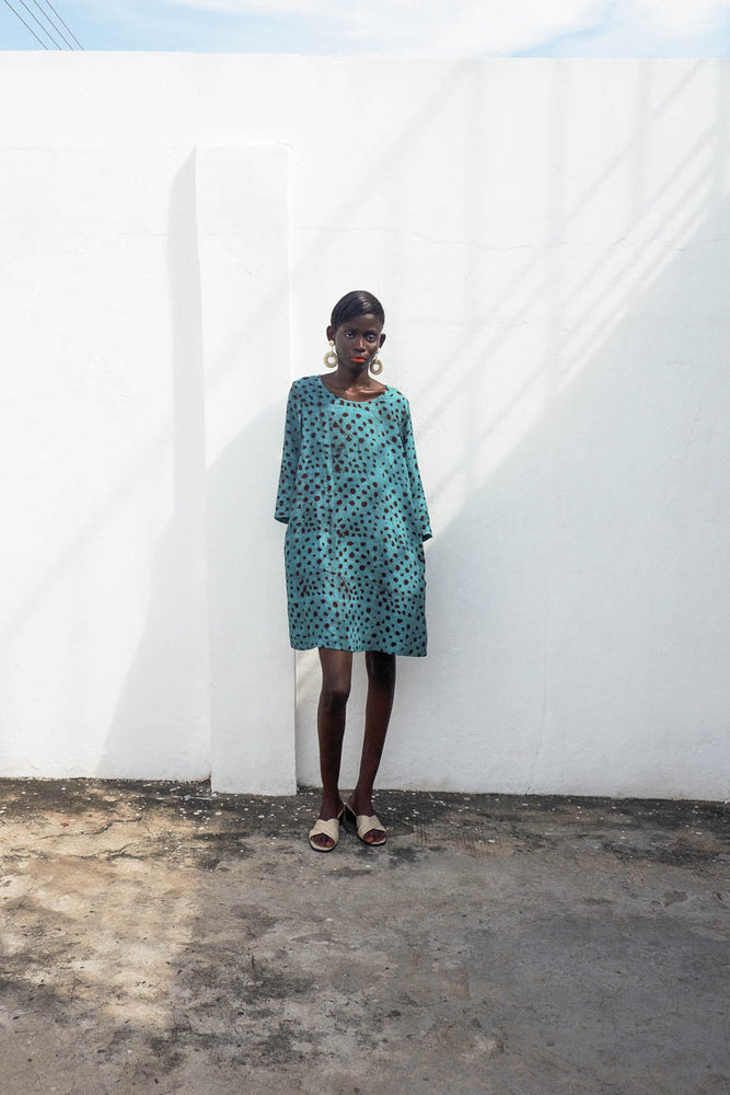 Krobo Dress in Baby Giraffe