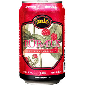 FOUNDERS RUBAEUS RASPBERRY ALE 6PK CANS