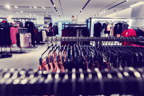 Inside a retail clothing store