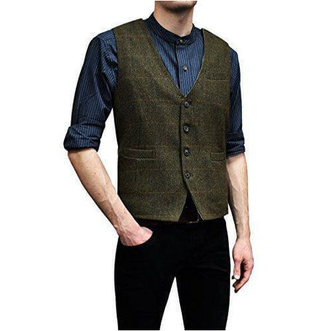 Lee Valley - Men's Genuine Irish Wool Tweed Vest - Naturally Ideal