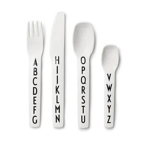 Design Letters - Kids Alphabet Cutlery/Flatware - 4 Pieces - Naturally Ideal