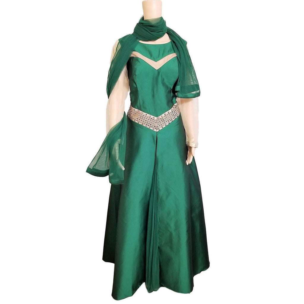 Low waist style Moss Green Gown – Atia\'s Boutique