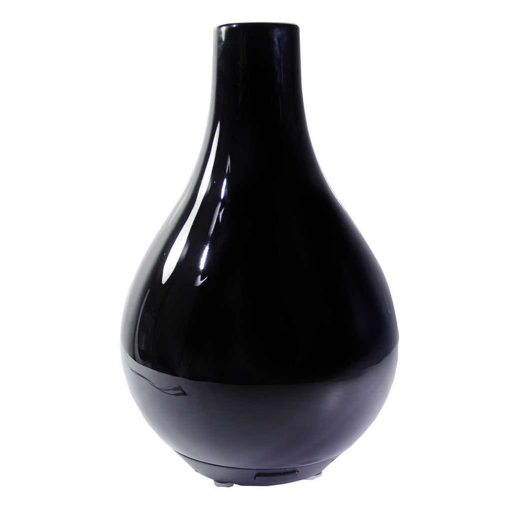 Essential Oil Diffuser Cara - Stylish Black Porcelain, Aromatherapy