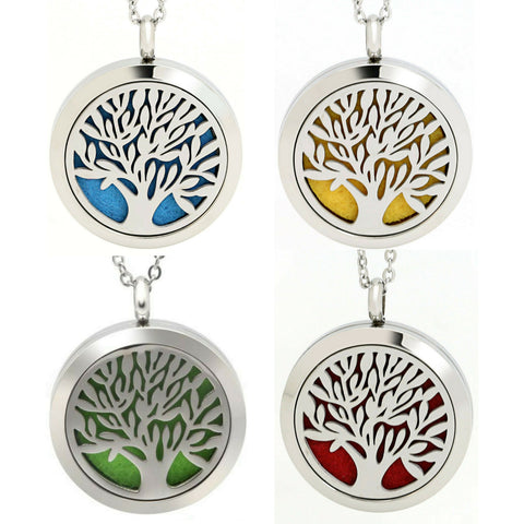 Essential Oil Diffuser Necklace - Symmetrical Style, Surgery Grade Stainless Steel, Hypoallergenic