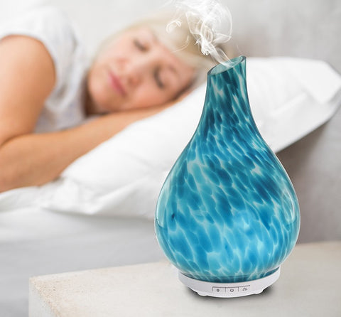Essential Oil Diffuser - Rare Hand Blown Glass