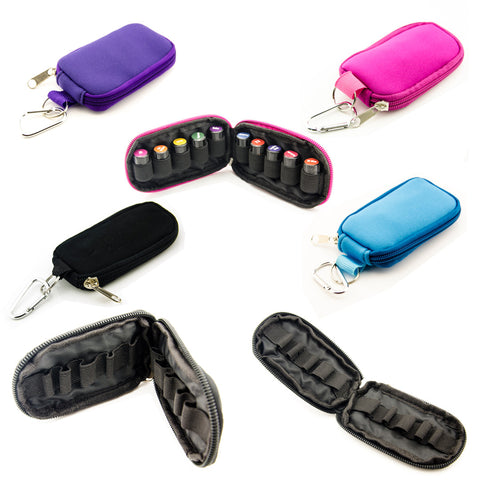 Essential Oil Carrying Case with Keychain - Includes 10 Sample Vials