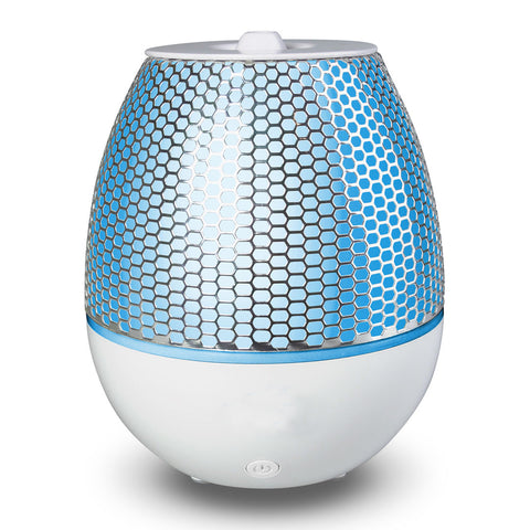 Essential Oil Diffuser Maya - Sharp Metal Mesh Design, 7 LED Changing Colors