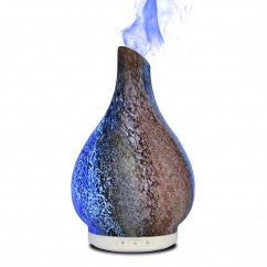 Moon Stone Sand Blasted Glass Essential Oil Diffuser - Brand New Design
