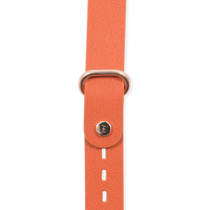 Orange Leather + Rose Gold Hardware