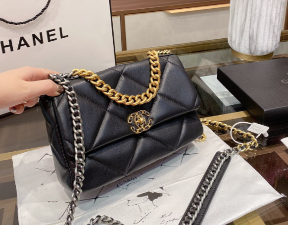 Chanel 19 Quilted Medium Flap Black