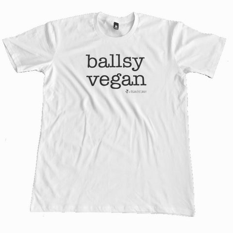BALLSY VEGAN - Basic Tee (Black, White)
