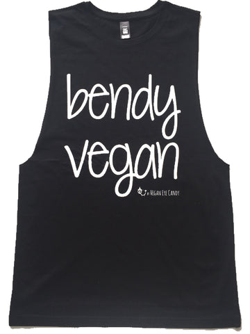 BENDY VEGAN - Unisex Muscle Tank (Black, White)