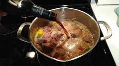 Adding guinnes ale to beef stew