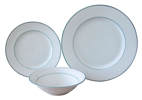 The Plate Co. Classic Green Dinner Set