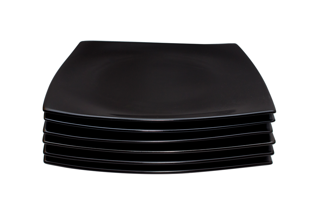 ... Set of 6 Contemporary Black Dinner Plates  sc 1 st  The Plate Co. & Set of 6 Contemporary Black Dinner Plates \u2013 The Plate Co.
