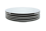 Set of 6 Everyday Porcelain Dinner Plates
