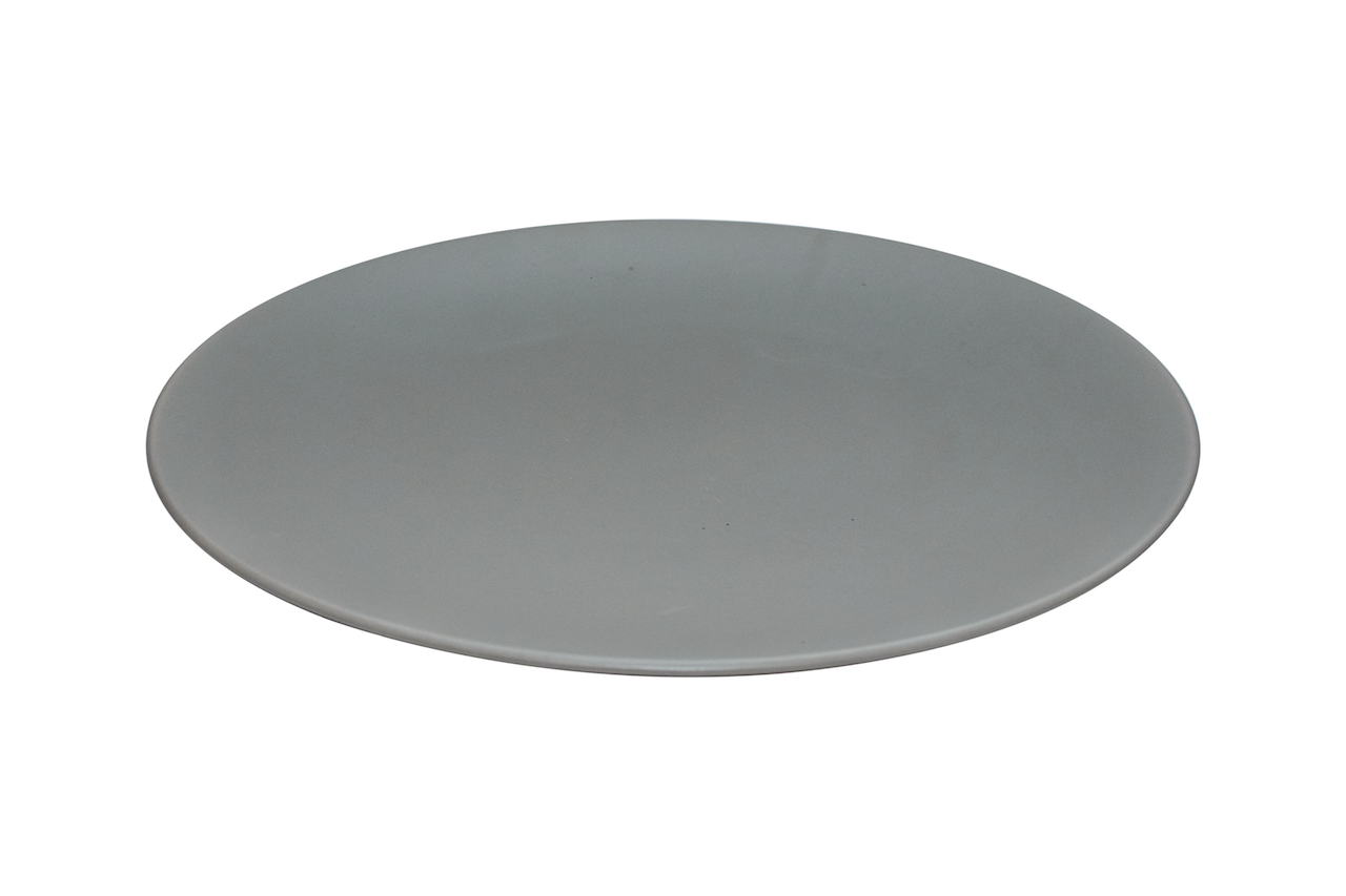 set of  contemporary black dinner plates – the plate co - set of  everyday chic grey dinner plates