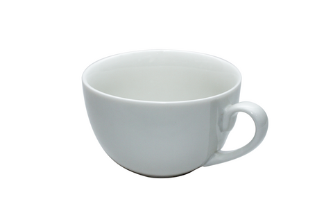 Set of 6 White Breakfast Cups