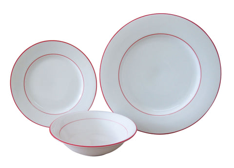 The Plate Co. Classic Red Dinner Set