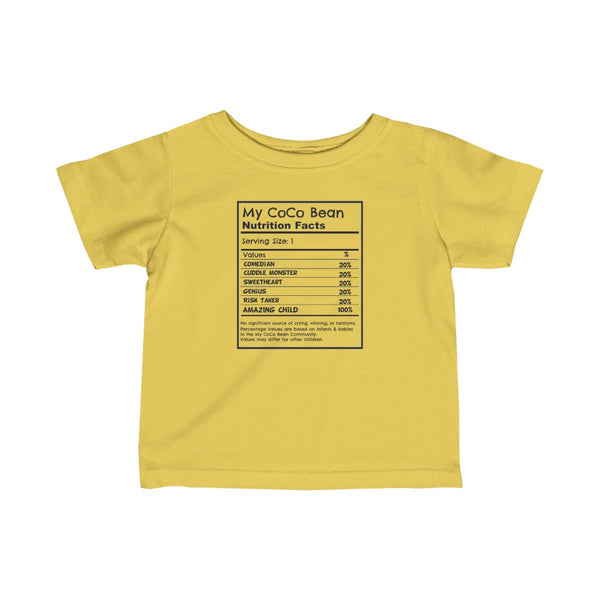Nutrition Facts Infant Tee