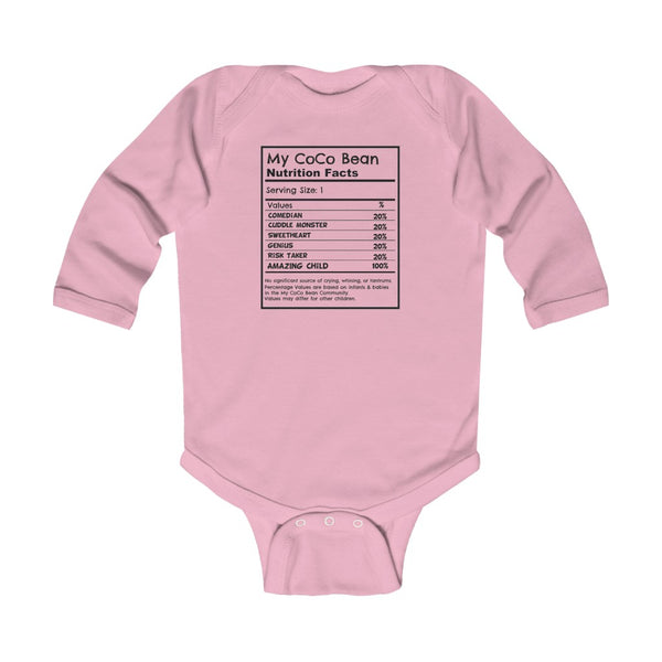Nutrition Facts Bodysuit