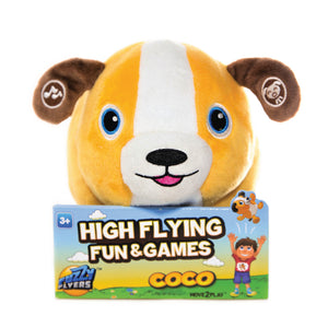 Fuzzy Flyers, Coco, Interactive Talking Plush Dog!