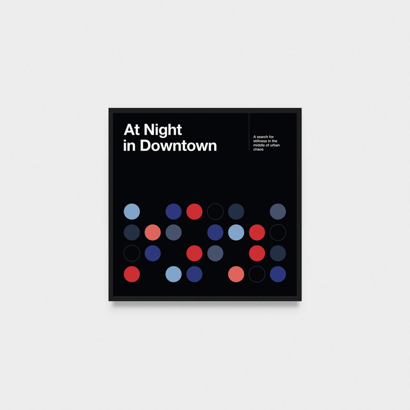 At Night in Downtown art print 50 x 50 cm
