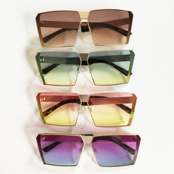 Antimatter Flat Top Sunglasses with Colorful Lenses