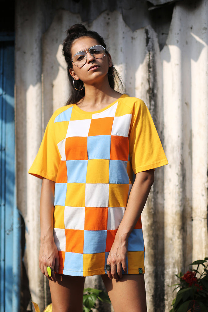 Cubic Bright T-shirt (Upcycled)-Shop-good stuff
