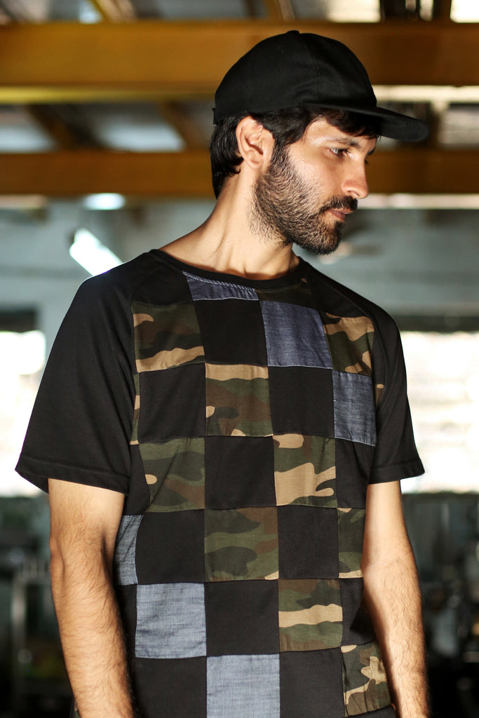 Cubic Dark T-shirt (Upcycled)-Shop-good stuff
