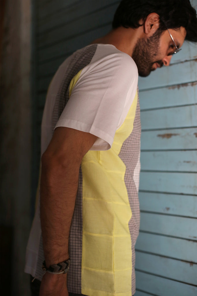 Cubic Light T-shirt (Upcycled)-Shop-good stuff