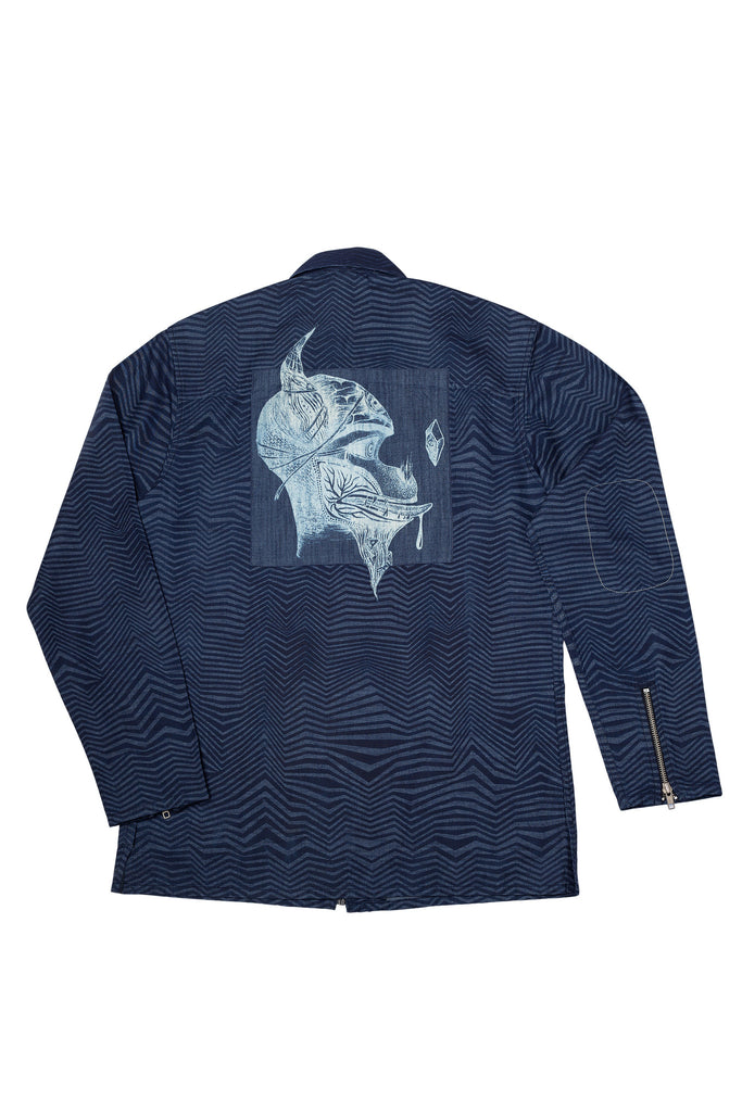 Crystal Inside Denim Jacket-Shop-good stuff