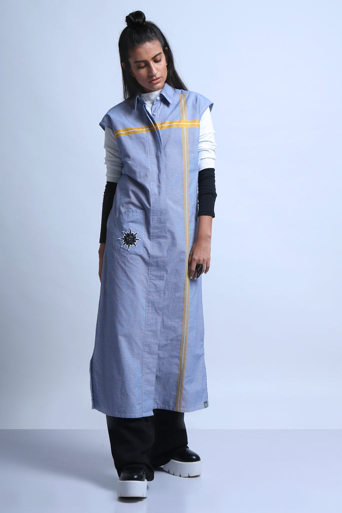 Eye See Blue Shirt Dress-Shop-good stuff