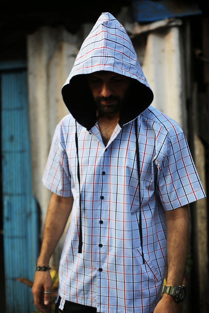 Pixel Wave Hooded Shirt-Shop-good stuff