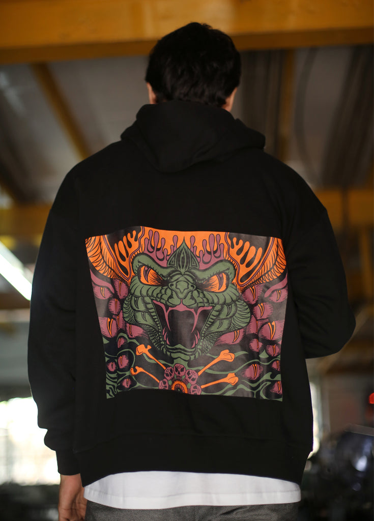X-Snake Zipper Hoodie-Shop-good stuff