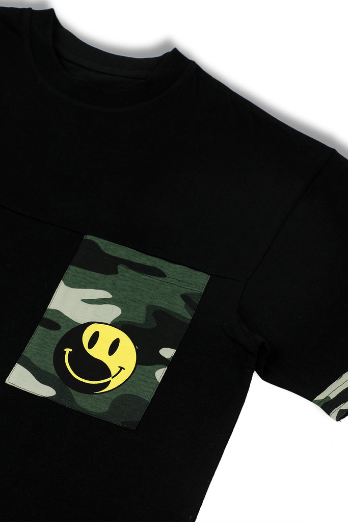 Yin Yang Black Longline T-shirt-Shop-good stuff