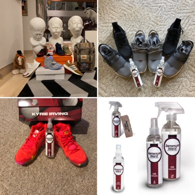 Shoe Cleaner - Jameson Ward Premium Shoe Cleaner - Rated Top 10 Sneaker Cleaner 2018!