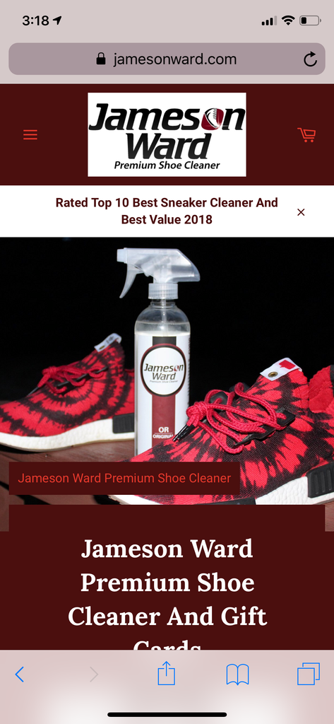 Shoe Cleaner - Jameson Ward Premium Shoe Cleaner