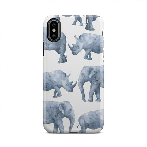 Safari Rhinos And Elephants Big Animal iPhone X
