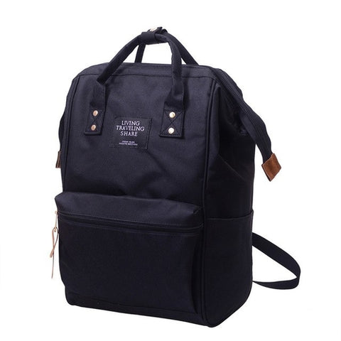Fashion backpack women men Unisex Solid Backpack