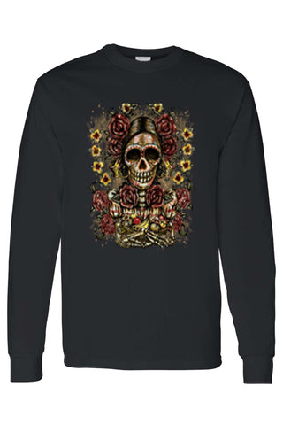 Unisex Frida Kahlo The Artist Sugar Skull Long