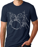 Drums T shirt cool Musician T-shirt screenprinted