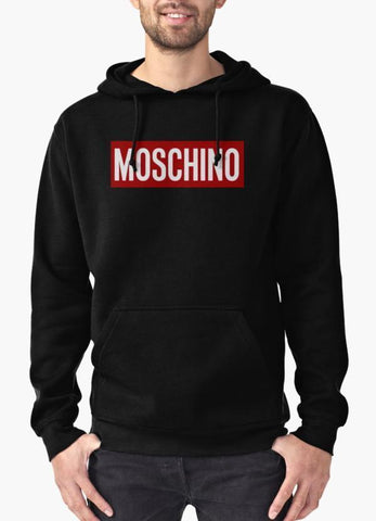 Moschino red box Hoodie Black