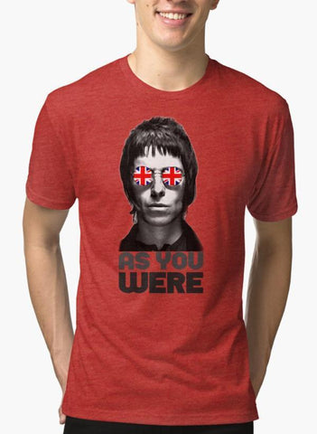AS YOU WERE- LG Red Malange T-shirt