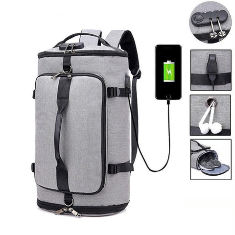 USB Anti-theft Gym backpack Bags Fitness Gymtas