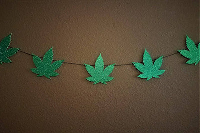Marijuana leaf garland